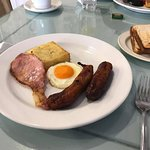 Breakfast at the Kilkenny Shop, Nassau Street, Dublin.