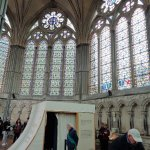 Salisbury Chapter House: the Magna Carta is in the tent-like structure