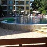 Pool area;golden dreams.