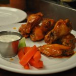 Wings with Ranch or Gorgonzola Dressing
