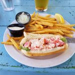 Small lobster roll and fries