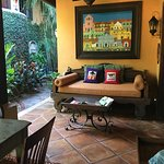 The Casitas, suites and grounds are absolutely beautiful. This is the dining area.