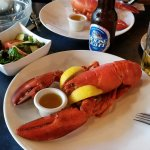 My lobster and local beer
