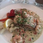 Salmon and shrimp main dish