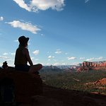 Meditating at the top of Bell Rock.