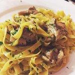 Fettuccini with porcini