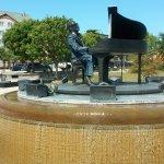 Ray Charles at rotating piano