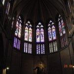 Stain glass window in side chapel