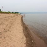 Park Point Beach looking back towards Duluth