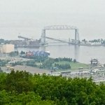 View from Skyline Parkway of Canal Park