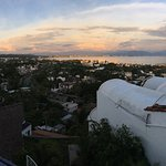 Panoramic sunset view from upper patio