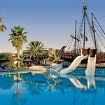 Swimming pool with pirate ship
