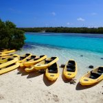 Kayaks ready to explore the Lagoon at Grand Turk