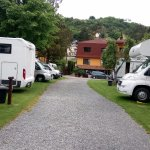 Parking area for the campervan