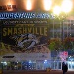 front of the Bridgestone Arena