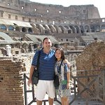 Me and my wife inside the Colosseum