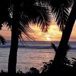 Sunset from fale veranda.