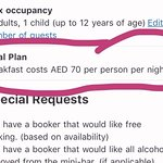 70aed on confirmation email, but we are made to pay 130aed, according to the rude front desk guy