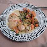 Assiette de St-Jacques en entrée