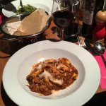Tagliatelle all bolognese & house red