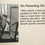 Carver did not patent his discoveries