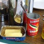 butter and salt dishes... novel!