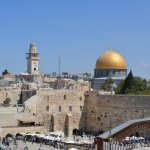 view of western wall and dome of the rock