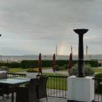 Terrasse vor der Hotelbar Seven C's