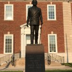 nearby statue of Harry Truman