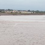 Tidal Bore behind the hotel,taken along the riverfront boardwalk taken steps from the hotel.