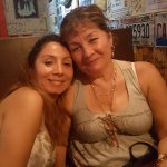 MOTHER & DAUGHTER ENJOYING AN EXCELLENT DINNER AT JIMMY'S