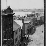 view from hotel in 1870