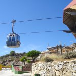Cable cars at the top
