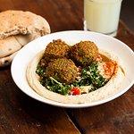 Tabouleh salad with falafel balls