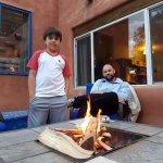 Fire pit outside room Casa Blanca.