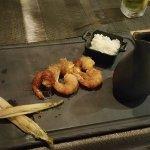 Potatoes wrapped shrimps
