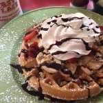 Banana Split Waffle so good