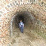 Tunnel to WWII gun emplacement at Inchcolm Island