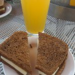 Beer and Swiss on rye