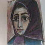 La esposa de Picasso, Jacqueline-Retrato