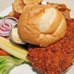 Fried pork loin sandwich