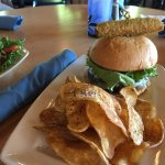 Geneva-on-the-Lake Burger with House Made Kettle Chips