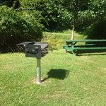 BBQ Pit next to the path going towards the falls.Victoria Park, Truro, NS