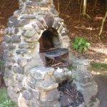 Rustic BBQ pit next to the Gazebo, Victoria Park, Truro, NS