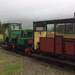 The diesel locomotive. A small steam engine runs sometimes.