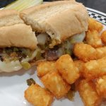Philly cheese steak with tots