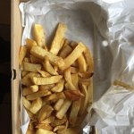 This is a large portion of chips that cost £2.75