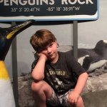 Checking out the penguins at the Tennessee Aquarium/Chattanooga
