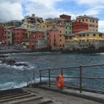 Boccadasse on a cloudy day