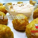 whole Fried Mushrooms, Yum !!